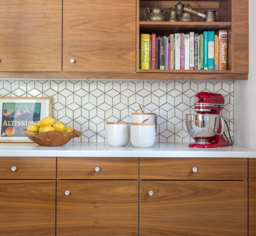 Mid Century Modern Tile Backsplash
