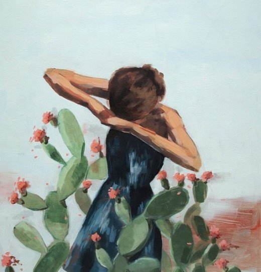 Oil painting by Etsy superstar Clare Elsaesser