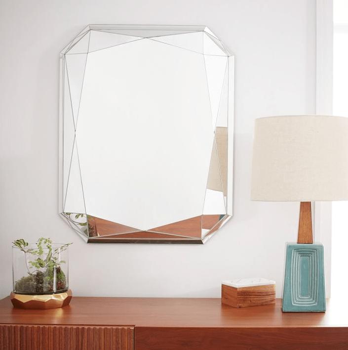 Faceted Mirror - Emerald Cut