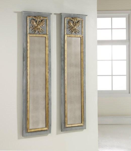 Wooden trumeau mirror