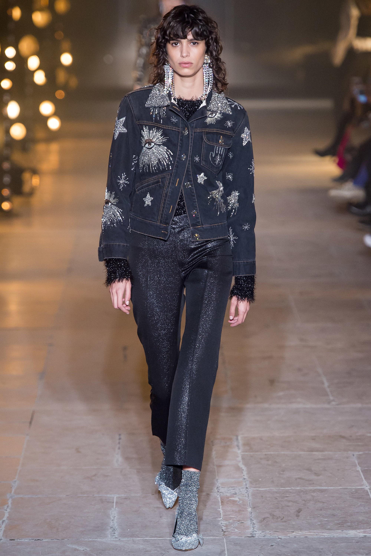 Crystal denim, denim jacket, rhinestone, Isabel Marant