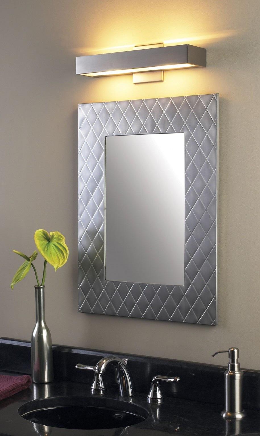 Brush Nickel Bathroom Mirror
