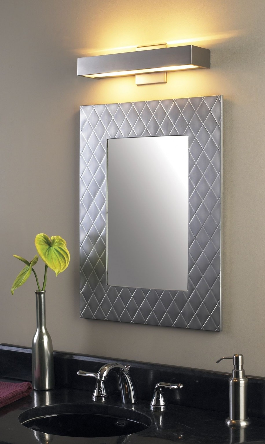 The Best Brushed Nickel Bathroom Mirror Find The Best Bathroom Mirror