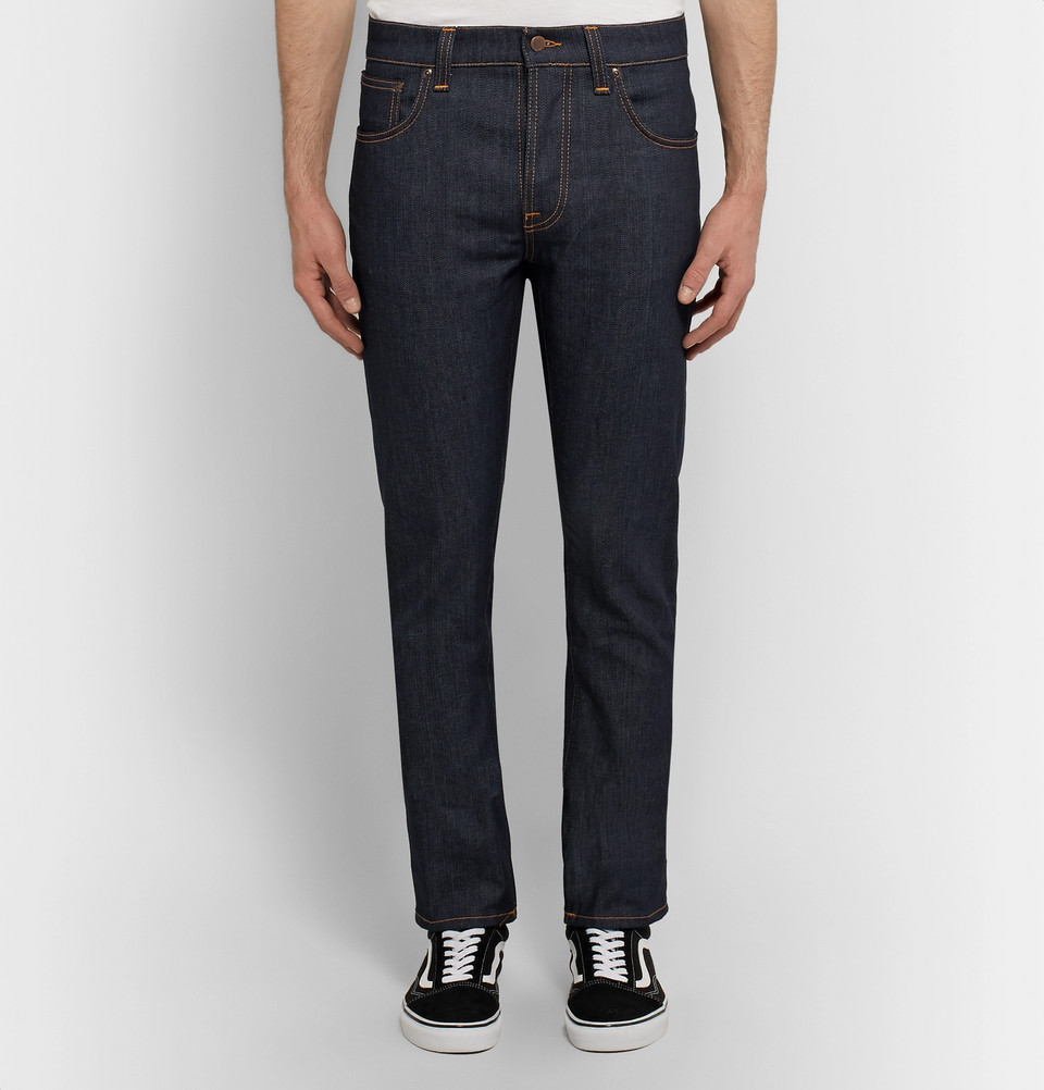 nudie jeans, grim tim, raw denim, stretch jeans, stretch denim, blue jeans