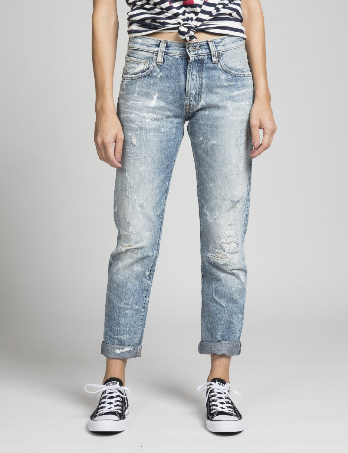 PRPS, el camino, slouchy skinny, distressed jeans, cropped jeans