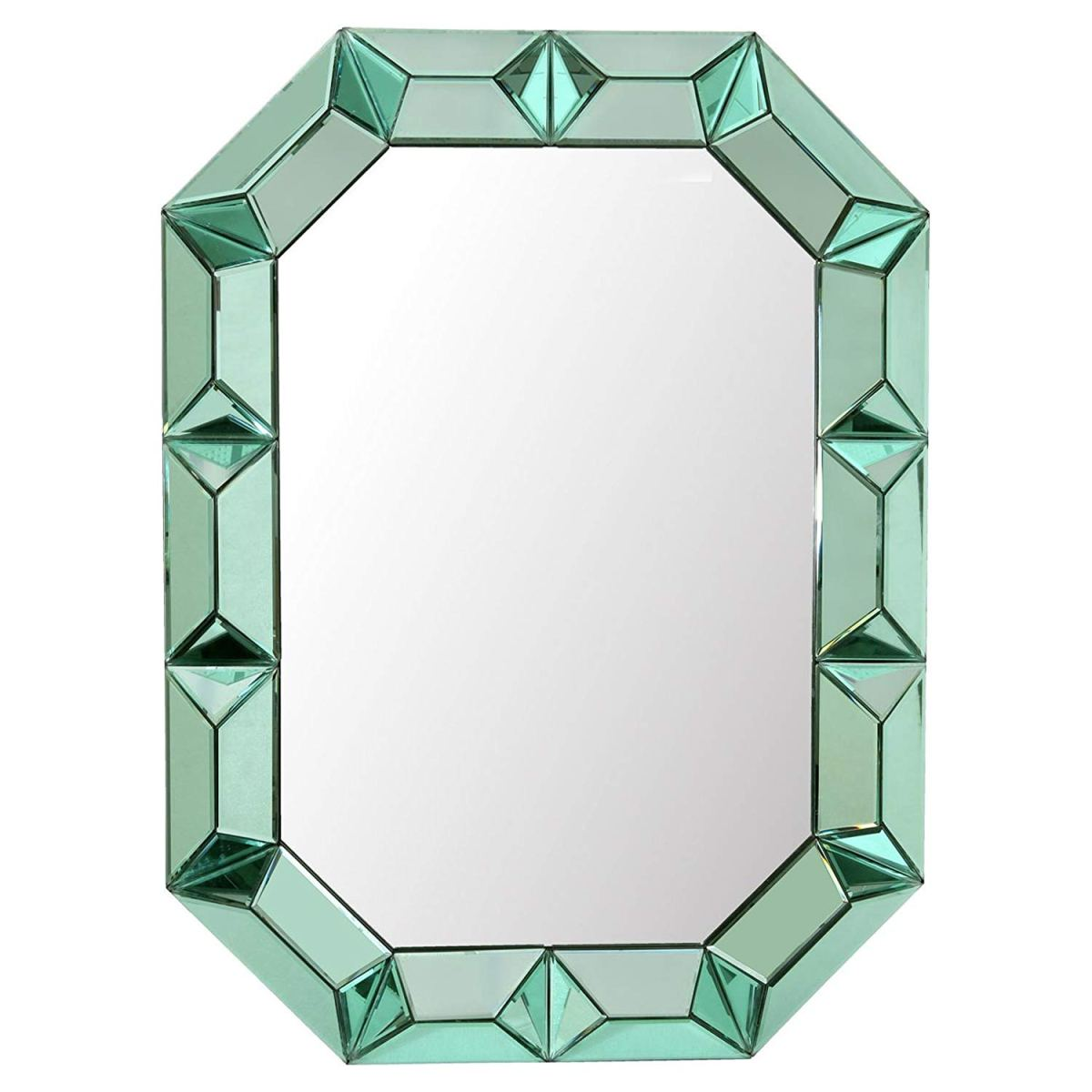 green mirror, colorful mirror, hollywood regency mirror