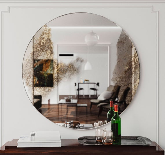 Golden Accented Wall Mirror