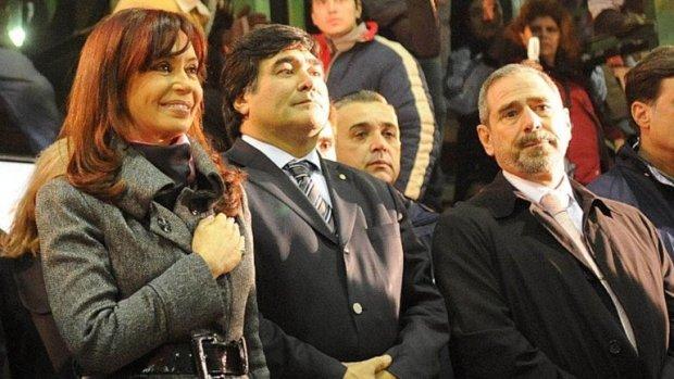 Cristina Kirchner, Carlos Zannini y Ricardo Jaime