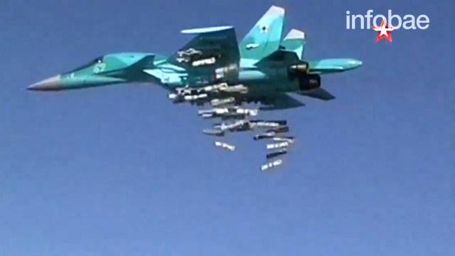 Cazabombarderos rusos en una misión en Siria
