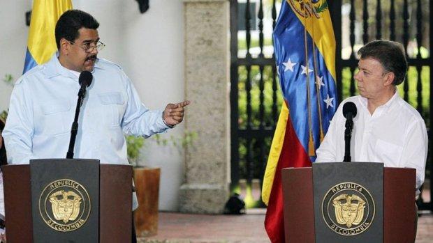 Nicolás Maduro ha elevado en los últimos tiempos la retórica contra Juan Manuel Santos (AP)