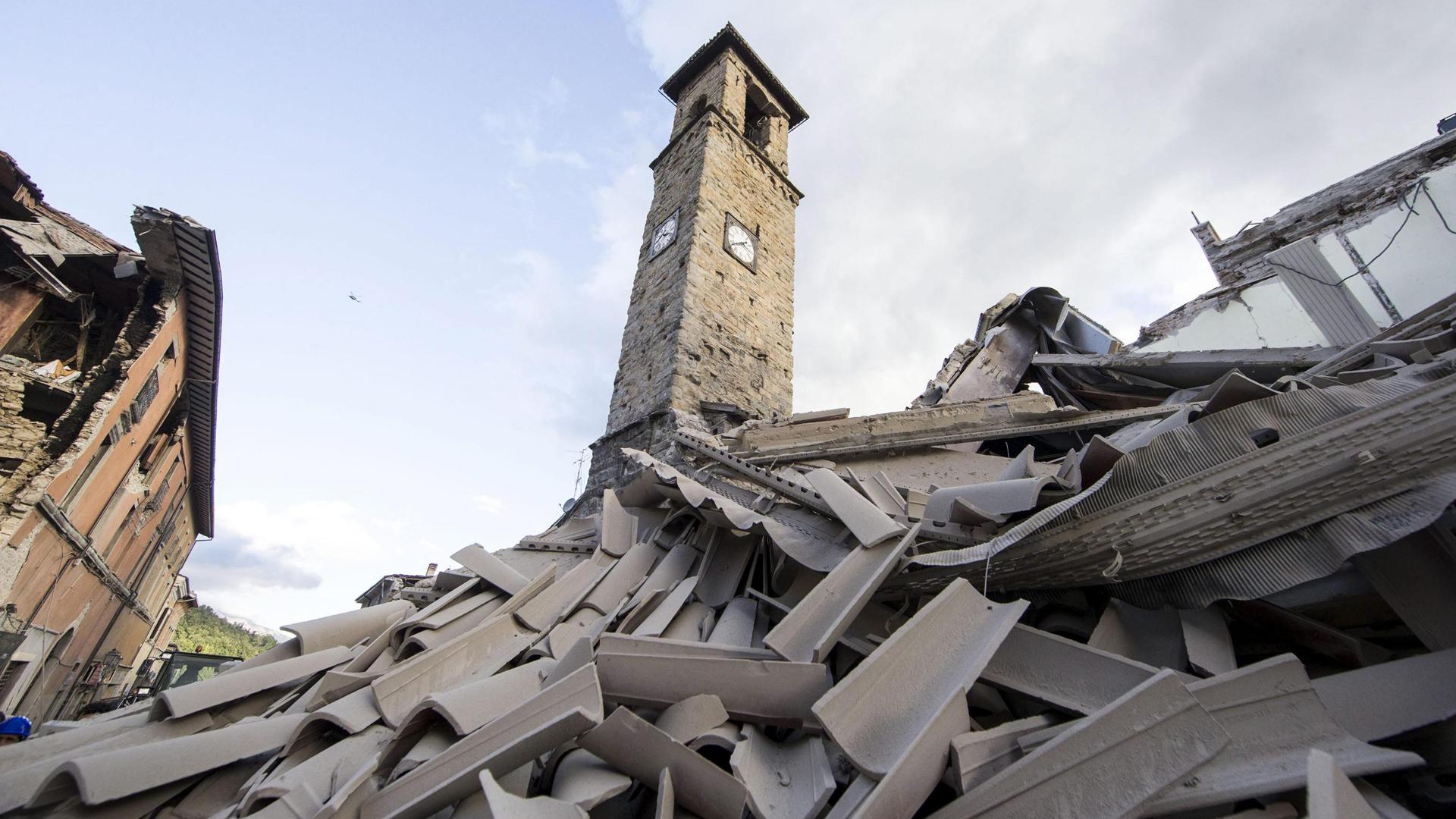 Casas destruidas en Amatrice (EFE)