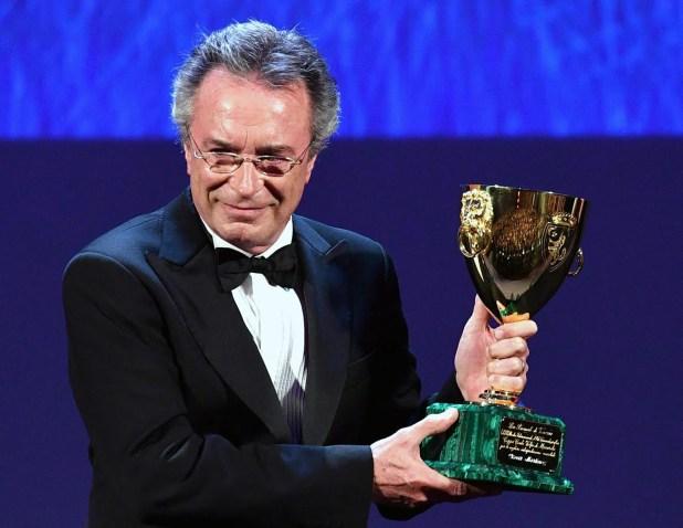 Oscar Martínez en el Festival de Venecia, premiado por El ciudadano Ilustre (EFE)
