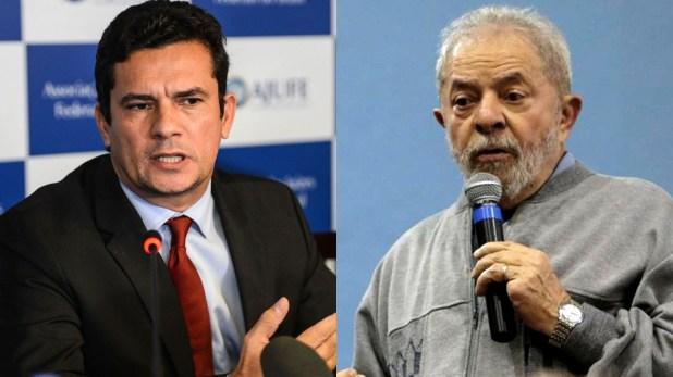 Sergio Moro, el juez que investiga la corrupción en Brasil, y el ex presidente Lula da Silva