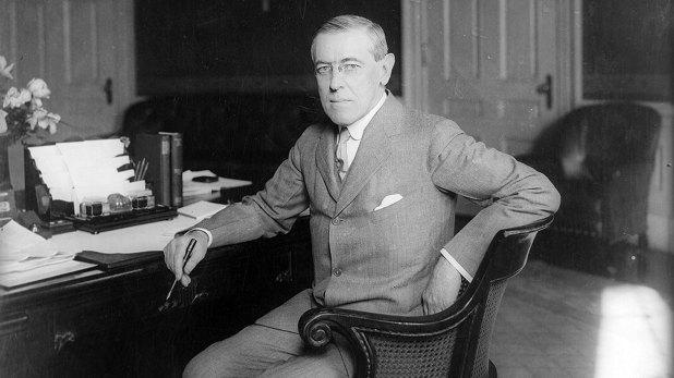 Woodrow Wilson, presidente de Estados Unidos durante la guerra