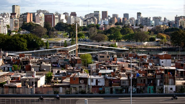 La Villa 31, en el barrio porteño de Retiro.(AP)