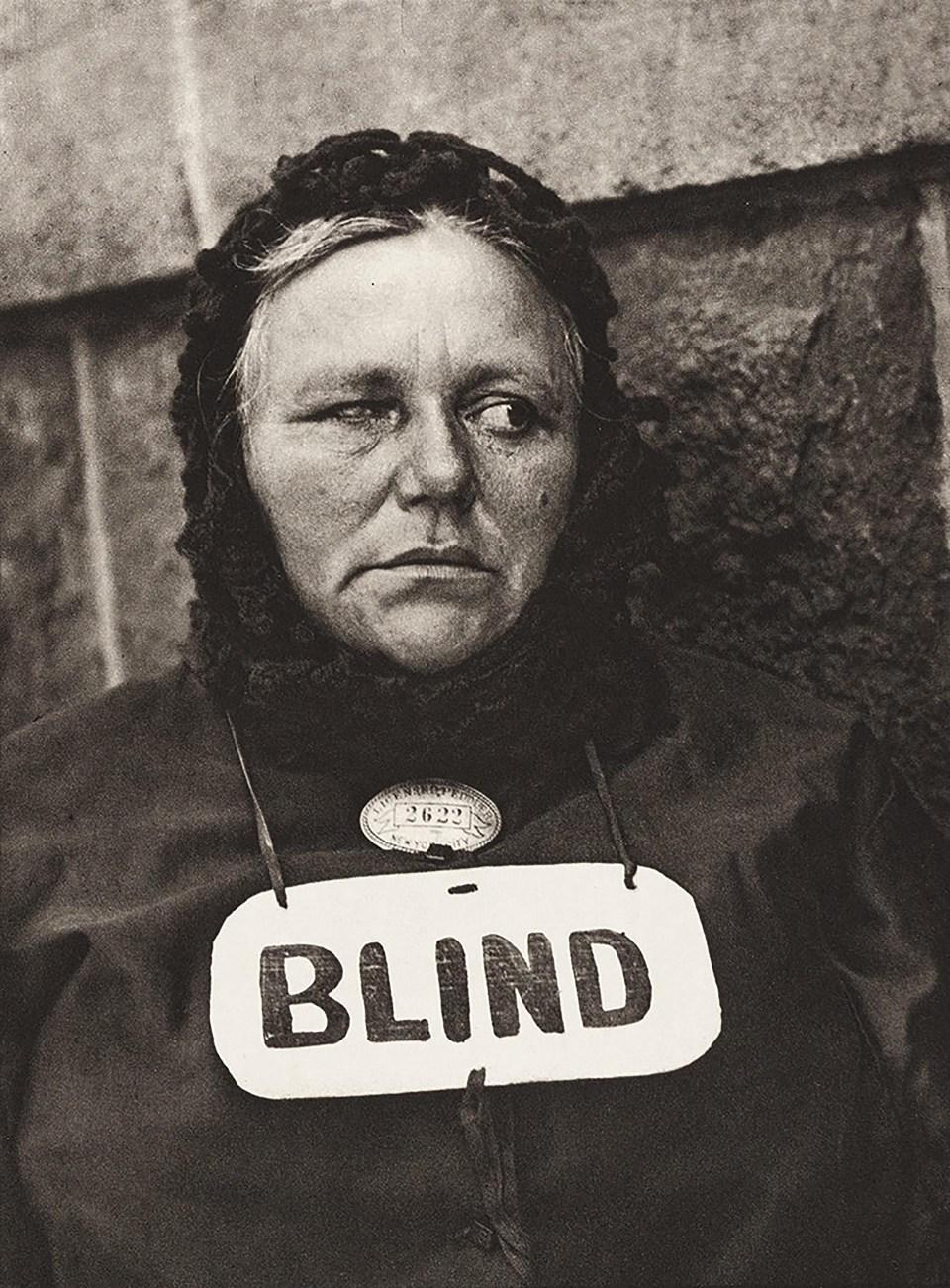 """""""Ciega"""" (Paul Strand, Estados Unidos, 1916)"""