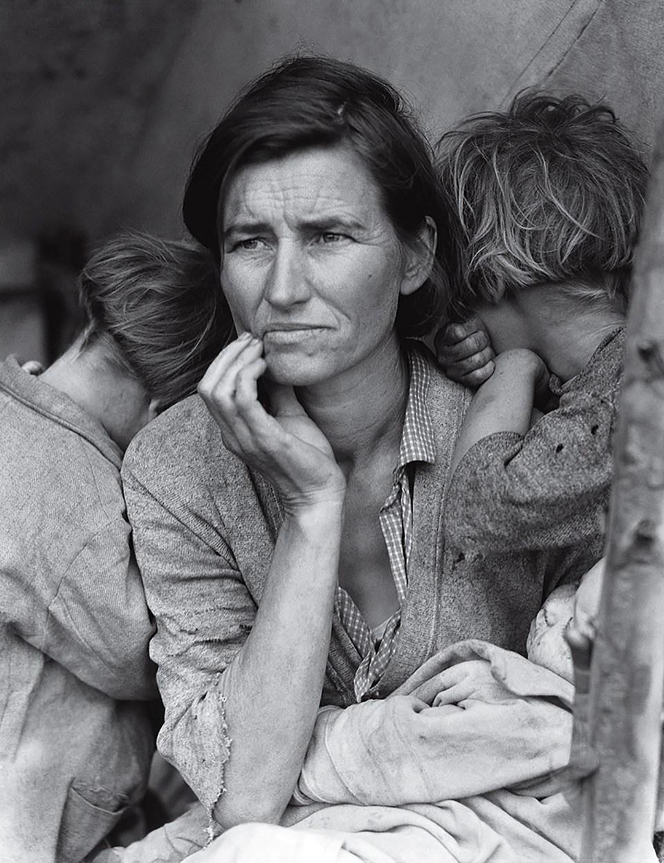 """""""Madre inmigrante"""" (Dorothea Lange, Estados Unidos, 1936)"""