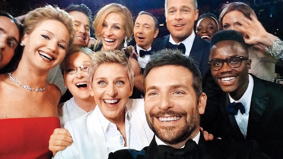 """""""Selfie de los Oscar"""" (Bradley Cooper, Estados Unidos, 2014)"""