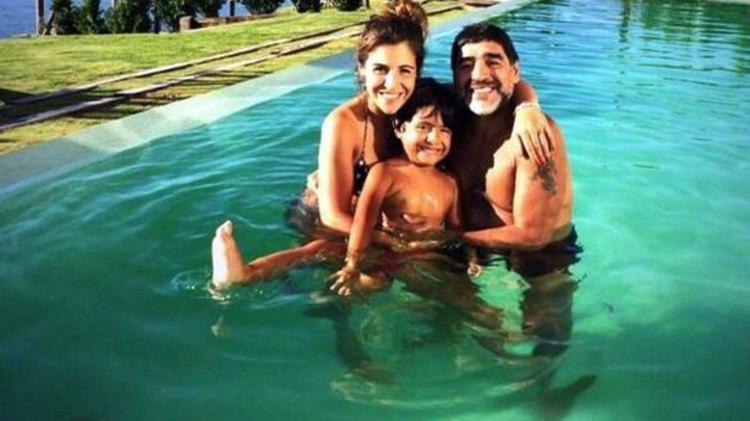 Diego, con su nieto Benjamín y Gianinna, en épocas felices