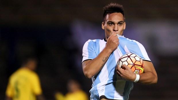 Lautaro Martínez, la estrella del último plantel del Sub 20 de Argentina (Télam)