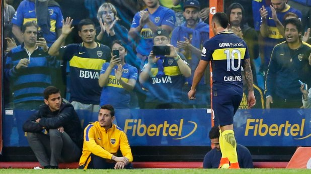 El partido ante River puede llegar a ser una de las últimas funciones de Tevez como profesional (Getty)