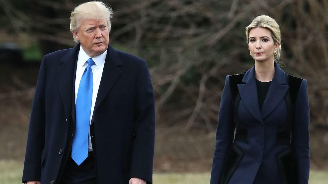 Donald Trump Junto a Ivanka Trump, que además de ser su hija es una de las personas que más influye en las decisiones de gobierno (Getty)