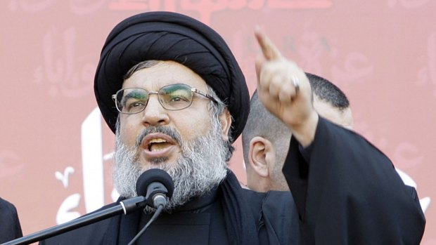 El jefe de Hezbollah, Sayyed Hassan Nasrallah