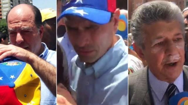 Borges, Capriles y Ramos Allup fueron atacados con gas pimienta