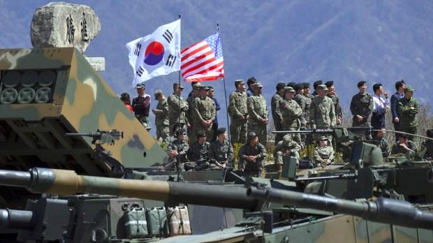 Estados Unidos y Corea del Sur realizan anualmente maniobras militares en la península (AFP)