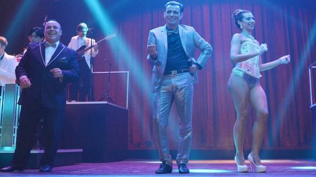 Martín Bossi en el escenario