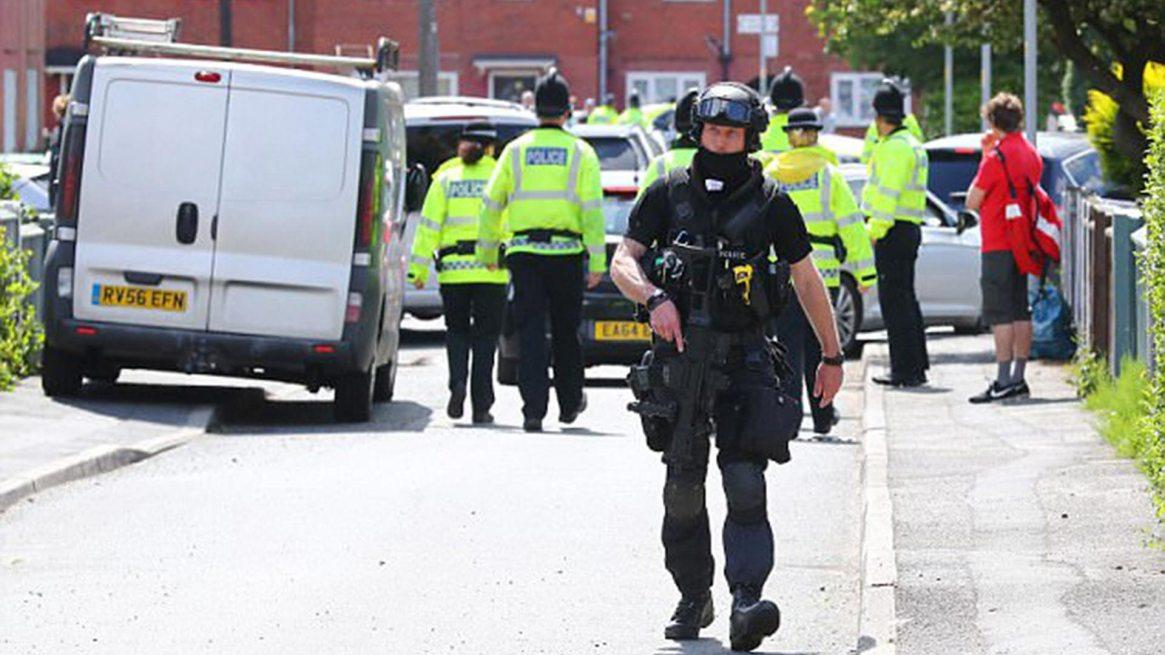 Policía de Manchester durante un ataque ocurrido el año pasado
