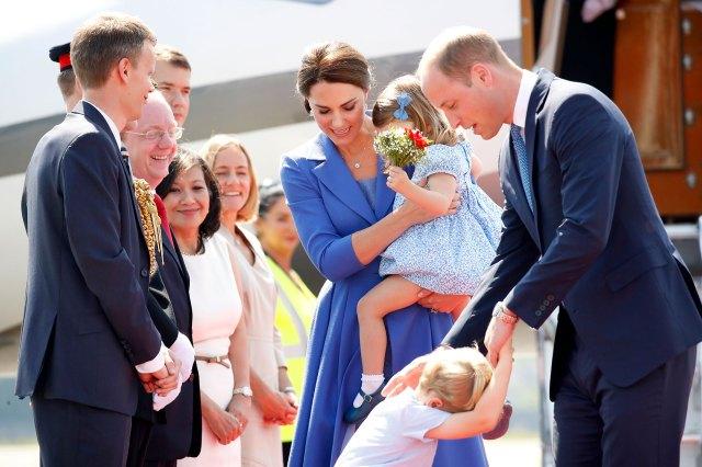 Los duques de Cambridge con sus hijos Charlotte y Louis (Getty)