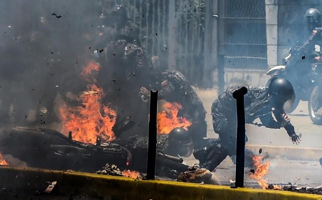 Las explosiones fueron recurrentes en una de las jornadas más sangrientas de las últimas semanas (AFP)