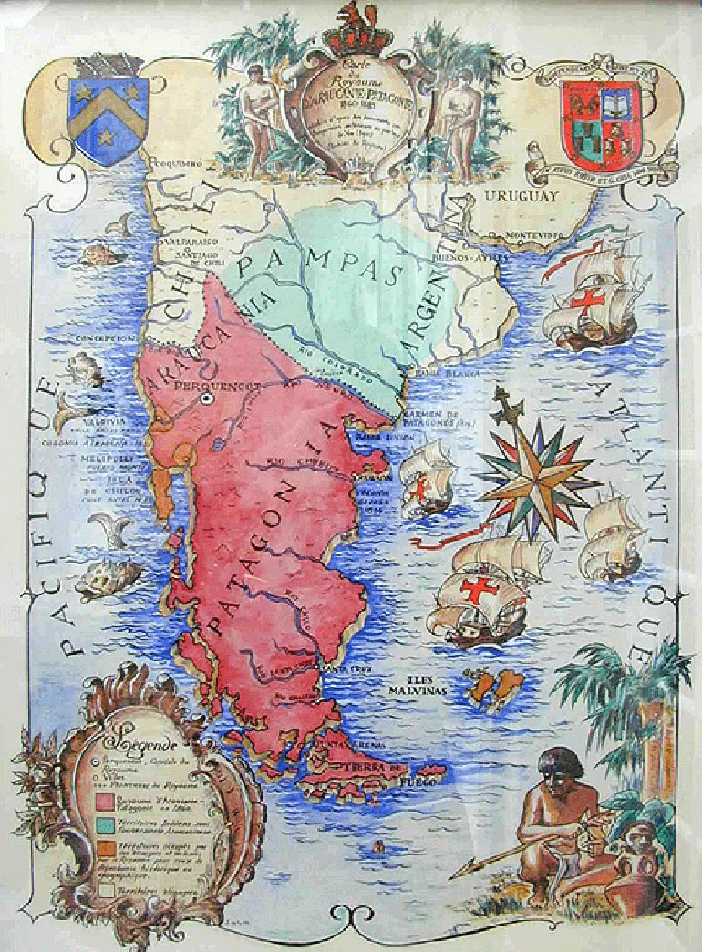 El mapa del reclamo mapuche