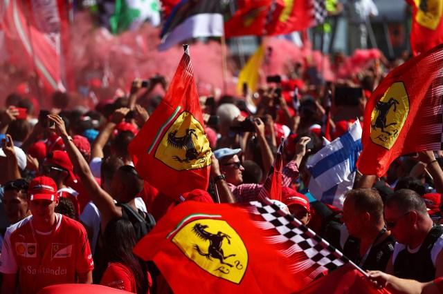 A pesar de la derrota, los seguidores de Ferrari tuvieron su tarde de celebración