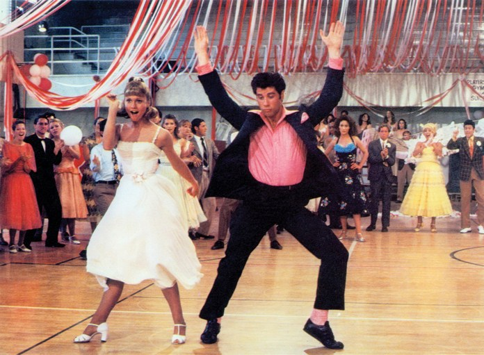 Olivia Newton-John y John Travolta en Grease