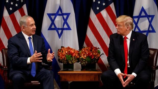 Benjamin Netanyahu, junto a Donald Trump (REUTERS)