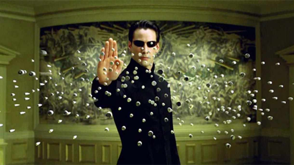 Keanu Reeves en Matrix 2