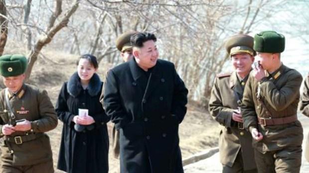 El líder norcoreano Kim Jong-un, quien dio la orden del lanzaminto