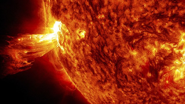 La tormenta magnética es el resultado de la llegada de viento solar a la Tierra (nasa.gov)
