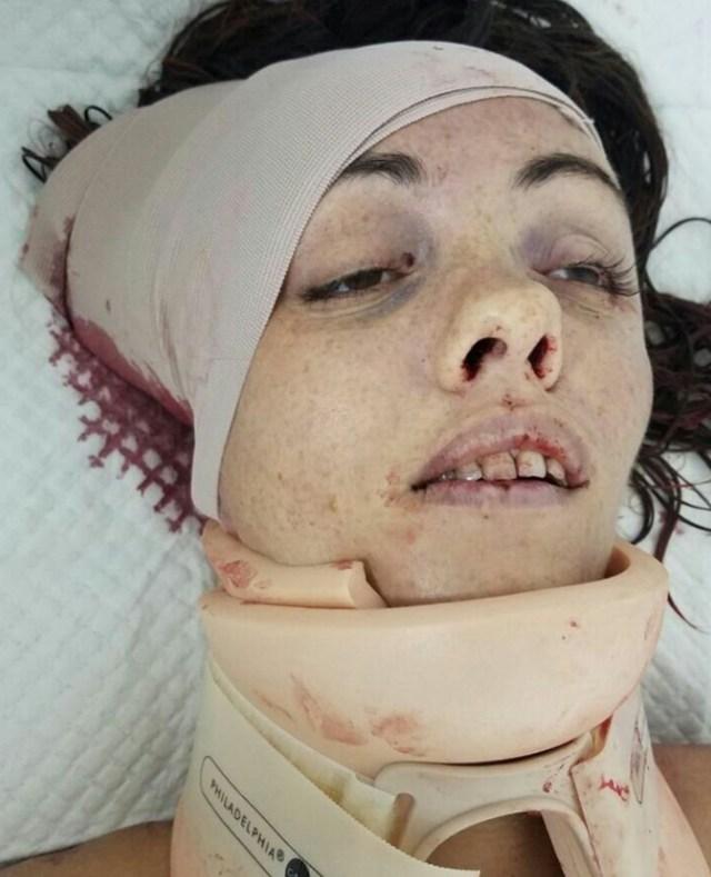 Borodina, en el hospital antes de morir