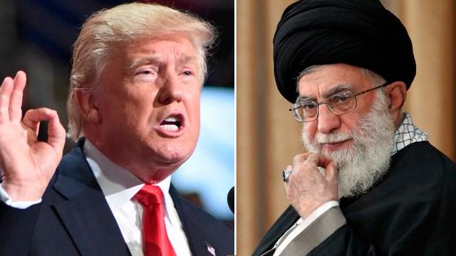 Donald Trump y el líder supremo irání Ali Khamenei