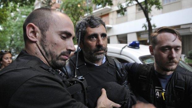 Roberto Baratta, el día que fue detenido en su casa (DyN)
