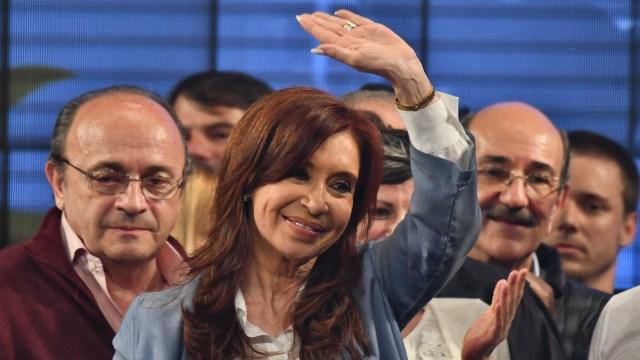 Cristina Kirchner en el búnker de Unidad Ciudadana tras la derrota en las elecciones legislativas (Amilcar Orfali)