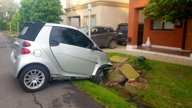 El auto de Piquín, el día que fue baleado por delincuentes