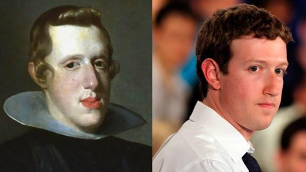 Mark Zuckerberg, el creador de Facebook, tiene varias similitudes con el Rey Felipe IV de España