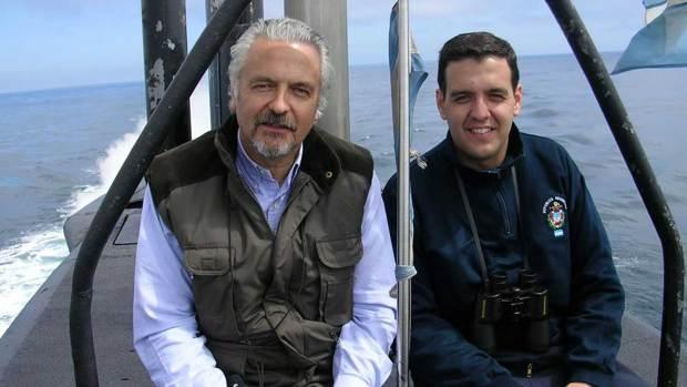 Jorge Ignacio Bergallo (derecha), junto a su padre