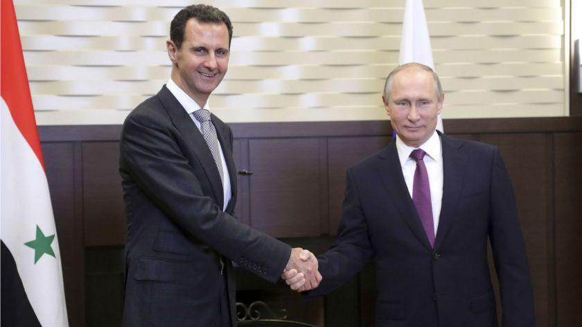 Al Assad y Putin durante su encuentro en Sochi (Reuters)