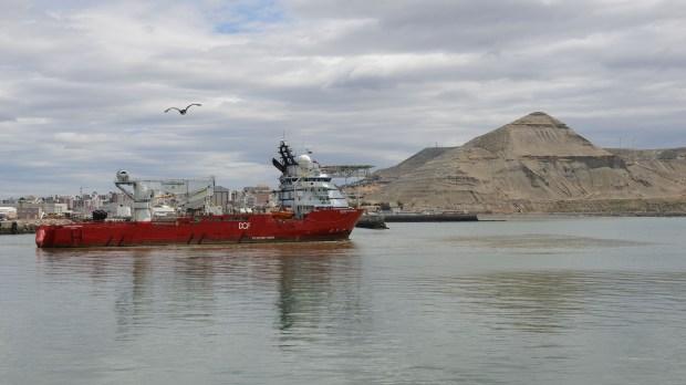 El buque Skandi Patagonia