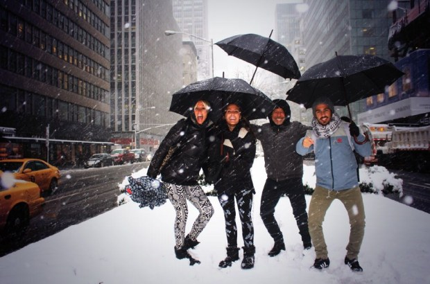 La familia, unida: Marynés Breña y Guillermo, junto a Nicolás y Yoyi durante unas vacaciones en Nueva York